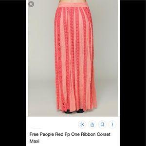Free People One ribbon corset skirt